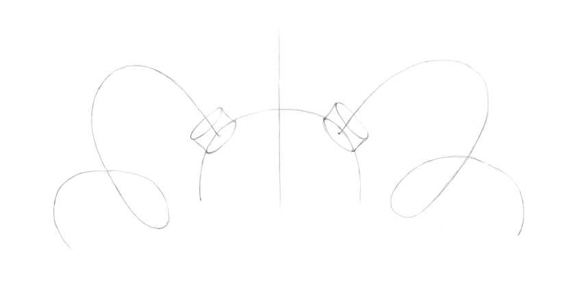 Designing the bottom parts of the horns