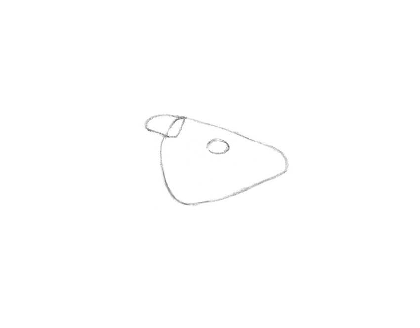 Drawing the shapes of the ear and eye