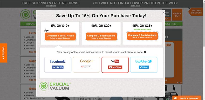 Circular Vacuum popup
