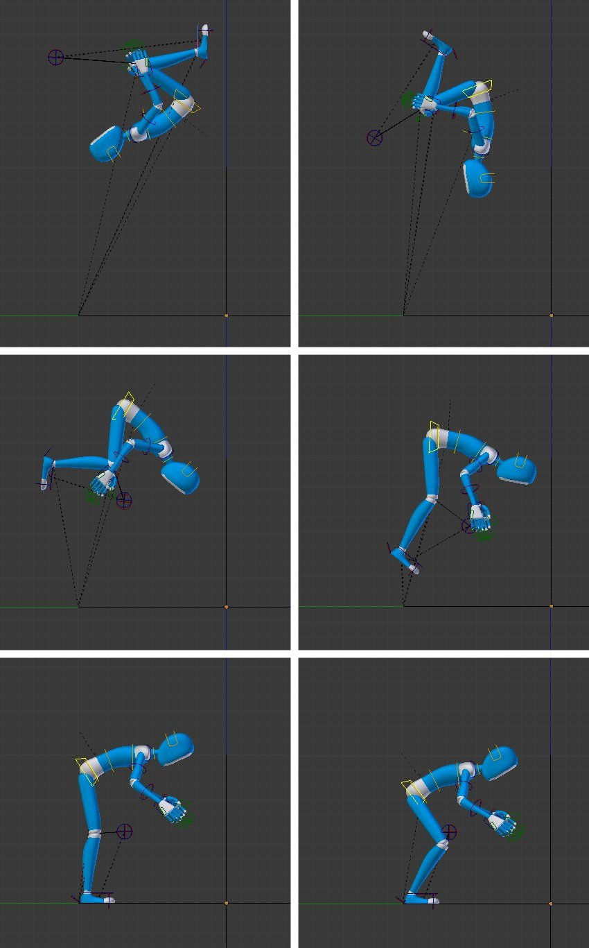 Create key poses in intervals of 10 frames