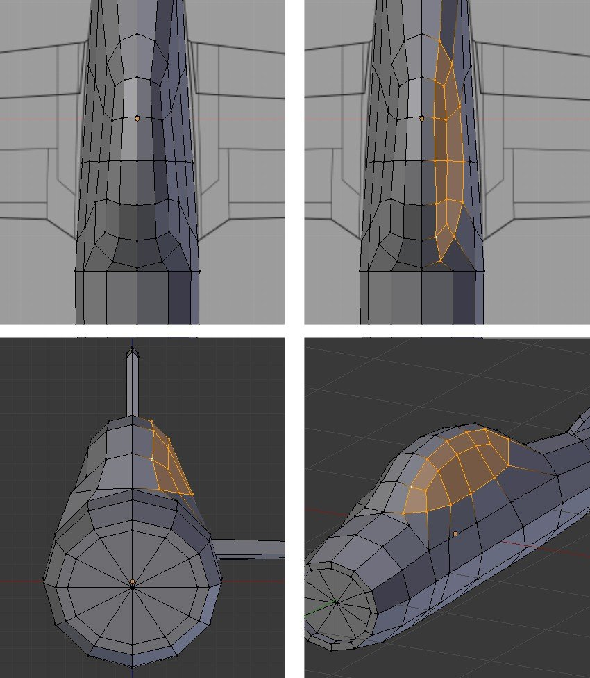 Give round shape to the cockpit