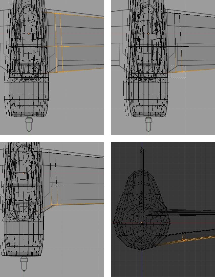 Tweak the vertices of the wing