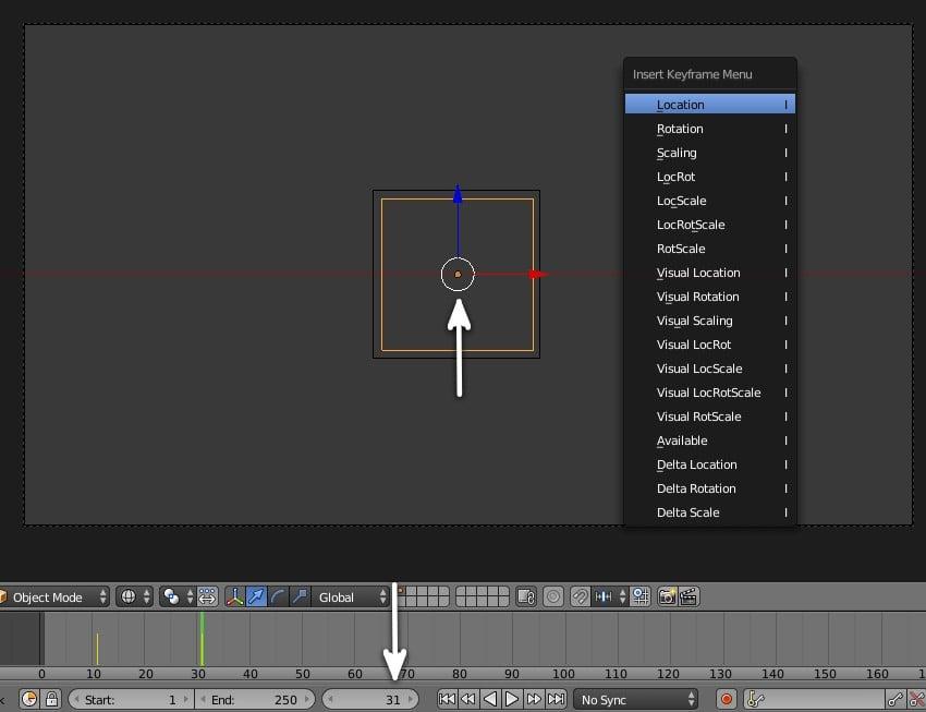 insert keyframe for logo