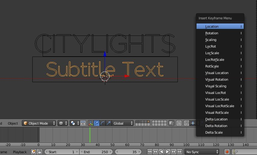 Add keyframe for second text