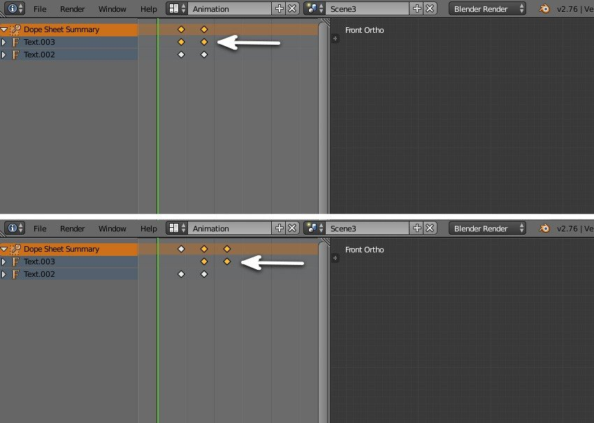 Move the keyframes of any one object