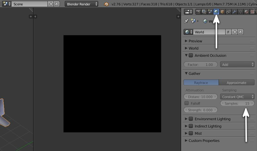 Ambient Occlusion settings