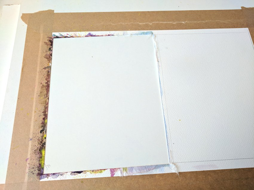 Cut out your painting with a sharp knife