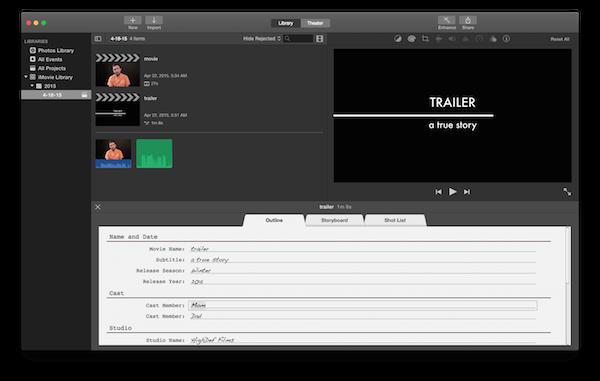 iMovie trailer