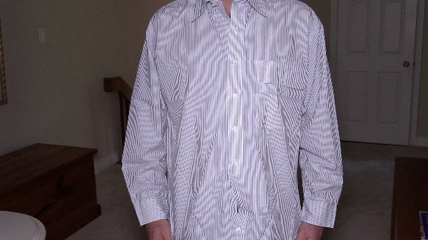 Shirt with pinstripes