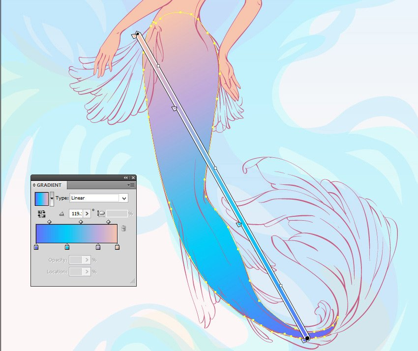 gradient for the tail