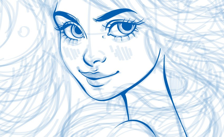 line art of the face
