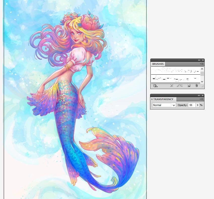 adding splashes to the background