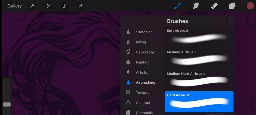 Neon Portrait Procreate Digital Drawing Tutorial select new brush