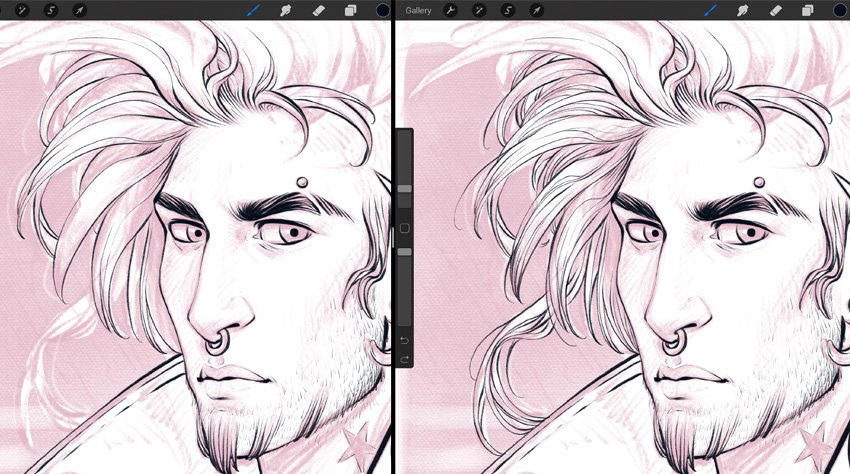 draw the hairs