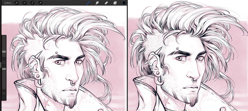 add some volume to the line art