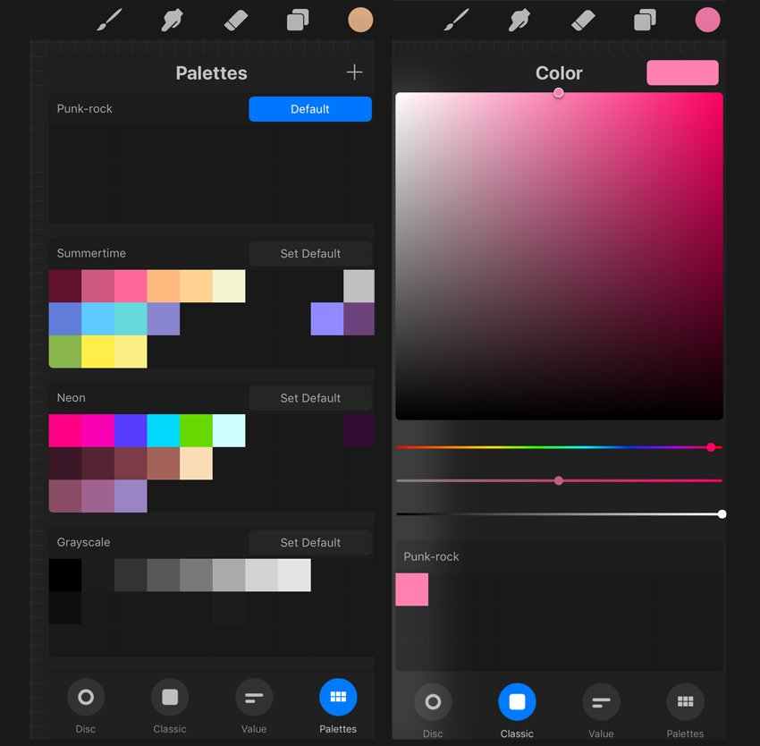 create the color palette