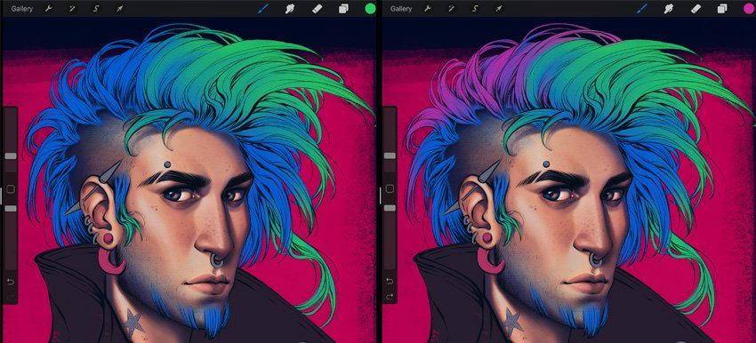 draw main shapes of the hair