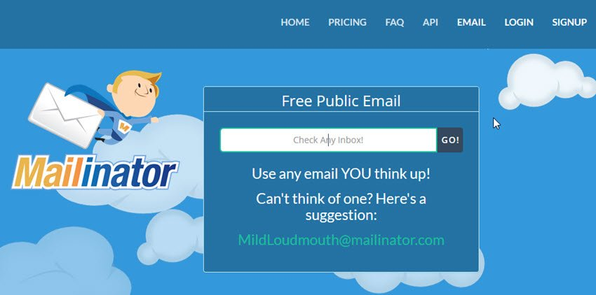 Mailinator Disposable Email Address