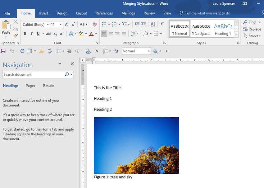 new document without Word formatting