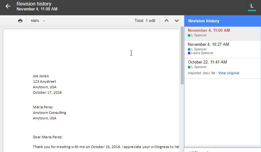 Revert to older versions of files in Google docs
