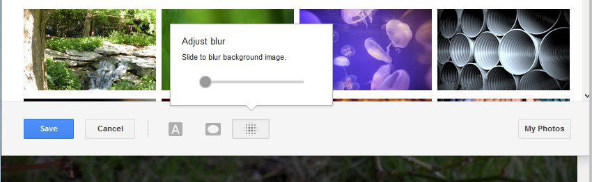 Select the Blur icon