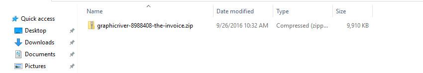 Open Invoice Word Template Zip File