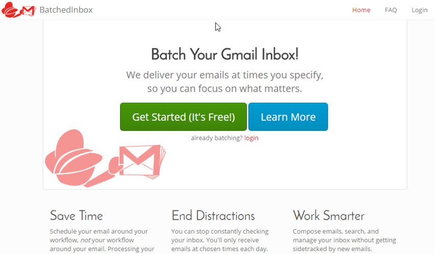 BatchedInbox Gmail plugin