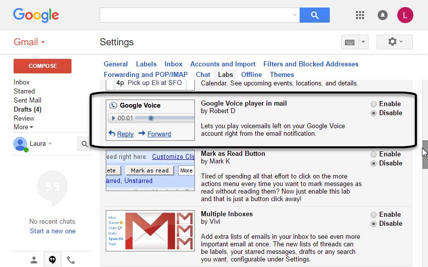 Google Voice Player
