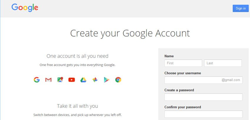 Gmail email service