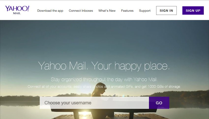 Yahoo Email Account Sign Up