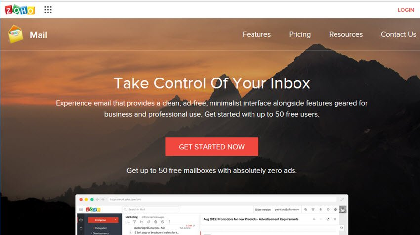 Zoho Mail email service provider
