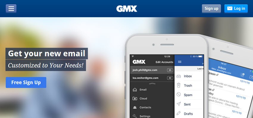 GMX free email account sign up