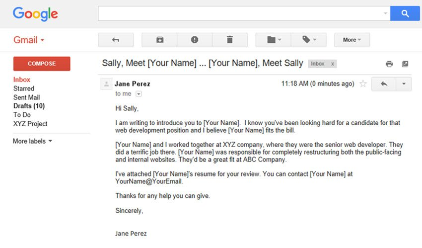 Sample Introduction Email