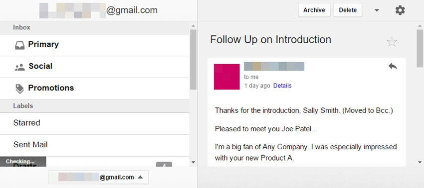 Gmail folders and tabs