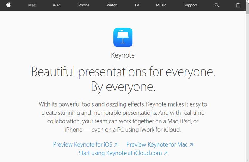 Professional Presentation Software - Keynote