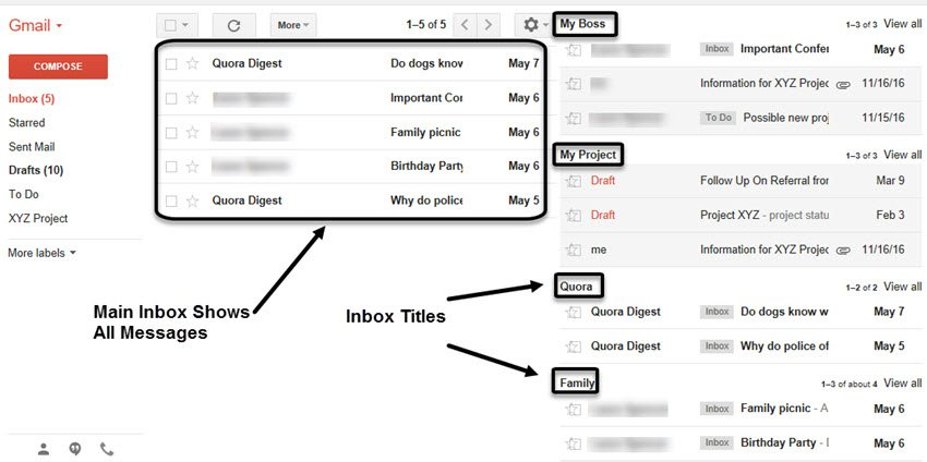 Gmail Labs Multiple Inboxes