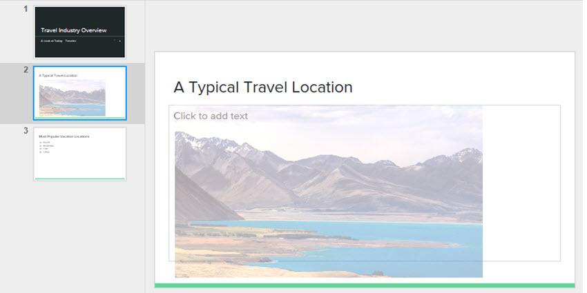 Google Drive Slides Transparency