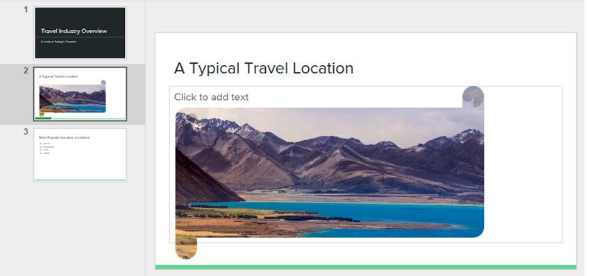 Google Slides Horizontal Scroll Shape