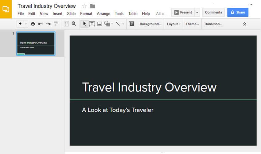 Open your Google Slides Presentation