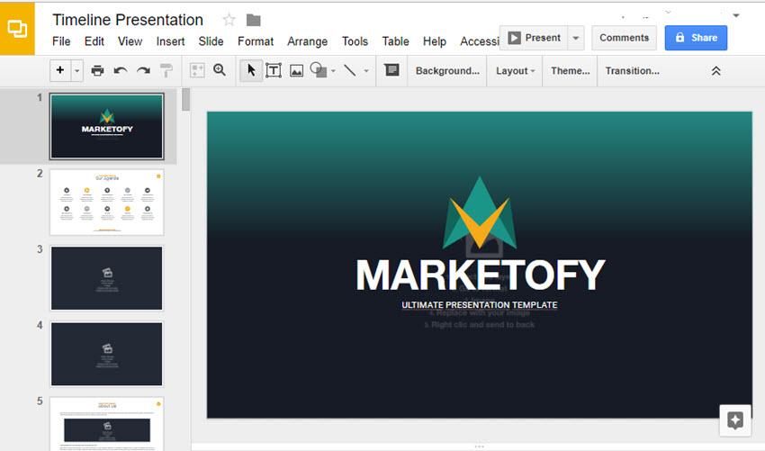 Google Slides Template Copy for Presentation