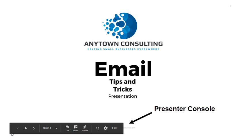 Google Slides Presenter View
