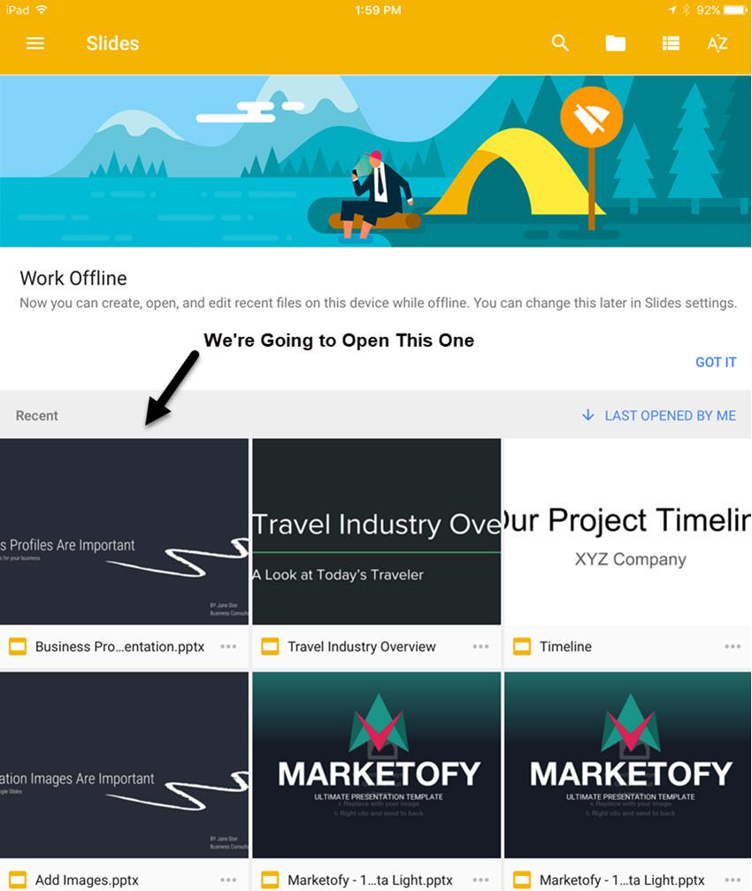 Recent Google Slides Presentation