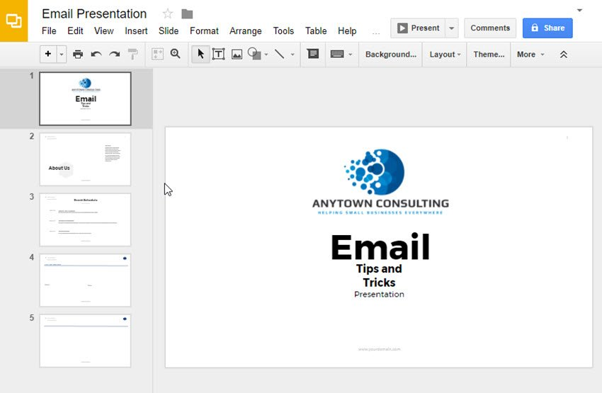 Google Slides Presentation using Fox Template from GraphicRiver