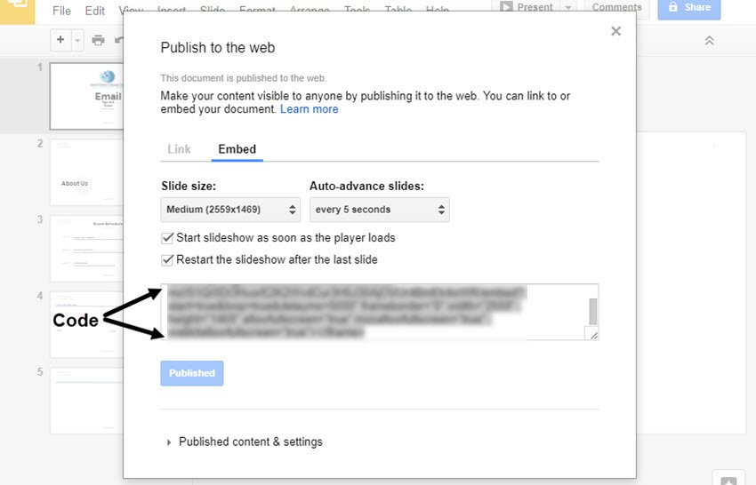Publish to the Web Dialog Box with Code