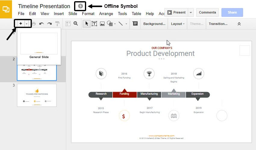 Working On An Offline Google Slides Presentation