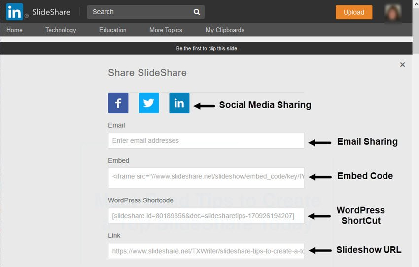 SlideShare Share SlideShare Screen