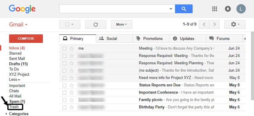 Open Gmail inbox