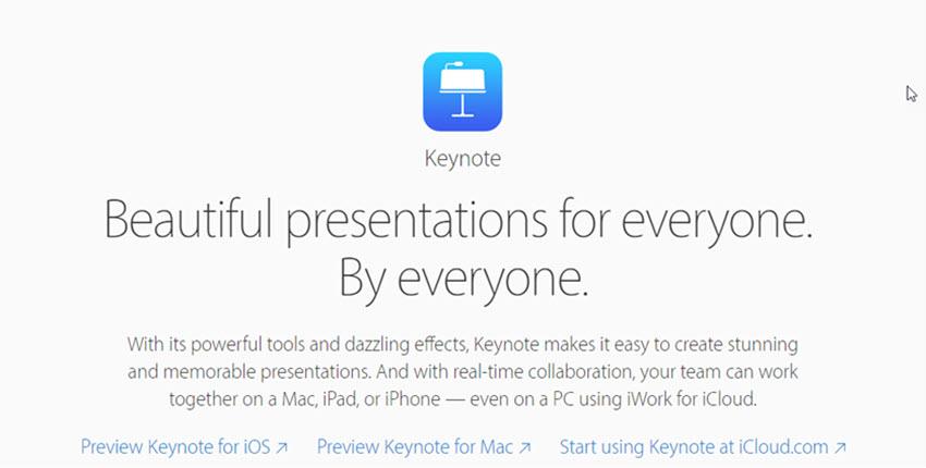 Keynote presentation tool