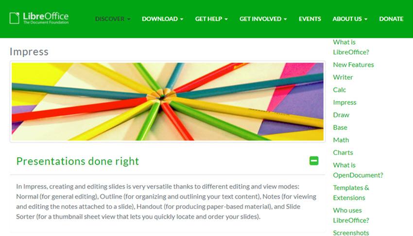 LibreOffice presentation software