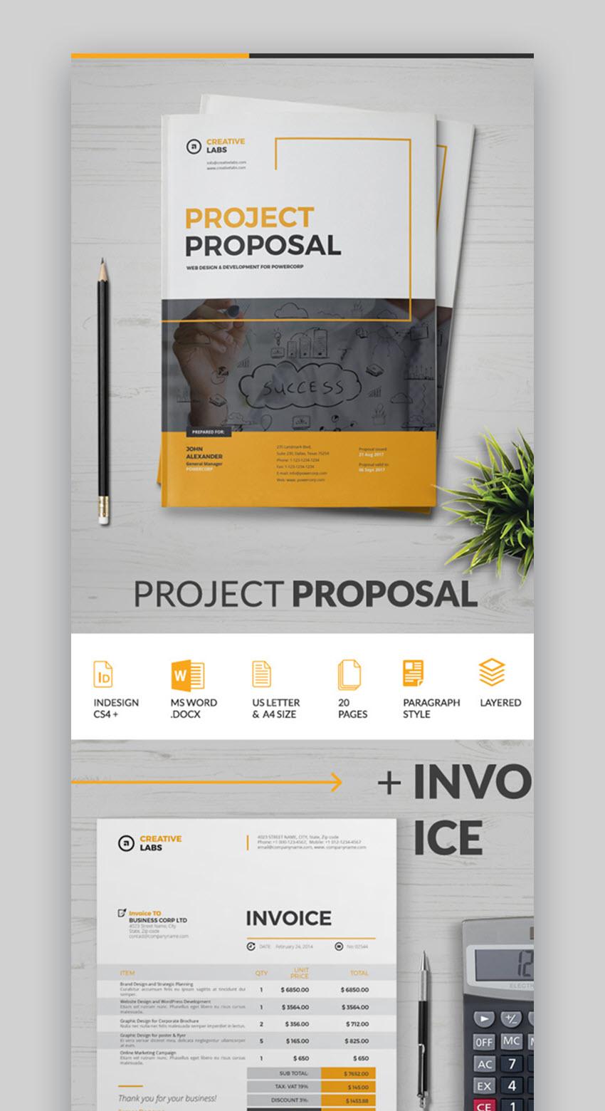 Plantilla simple para propuesta con excelente organizacion